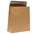 Presentpåse med tejpflik brun, 160x60x180+40mm -Brun