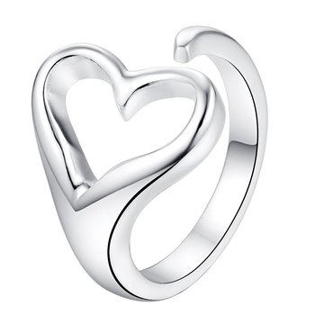 "Ring ""Heart"" i 925 Sterling Silverplätering"