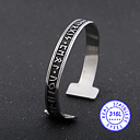 "Armband ""Rune"" i rostfritt stål -Svart"