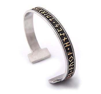 "Armband ""Rune"" i rostfritt stål -Guld"