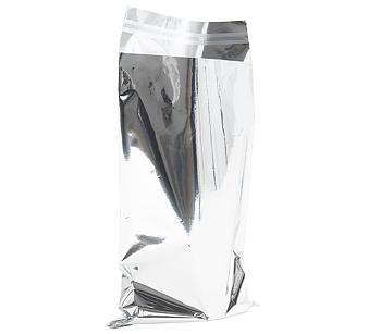 Foliepåse satin med tejpförslutning Silver