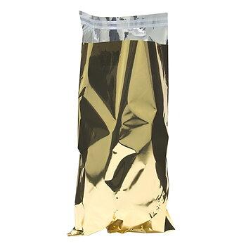 Foliepåse satin med tejpförslutning Guld