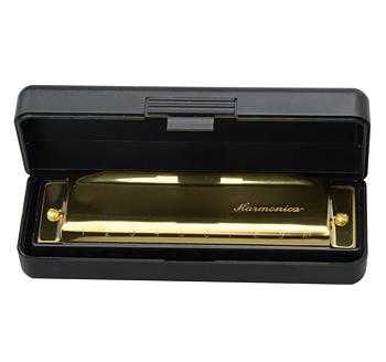 Munspel Swan Harmonica -Guld