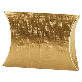 Presentkartong, Linnepräglad i Guld- eller Silverfolie, 100x100x35mm