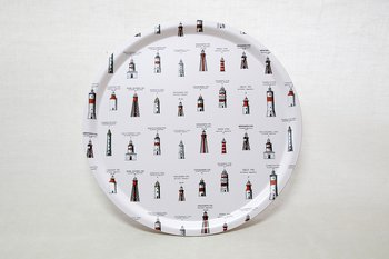 Round Tray Lighthouses 38 cm