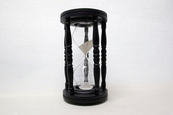 Hourglass Black 35x19 cm