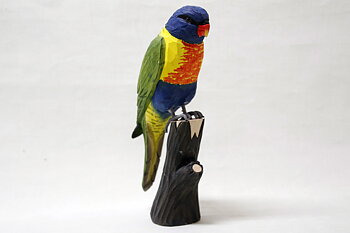 Rainbow lorikeet Wood 26x11x7
