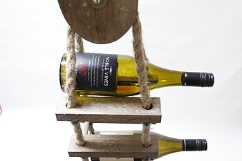 Ladder wine rack 118x20x15