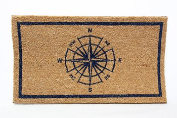 Compass Rose and Code Flags Doormat 70x41 cm
