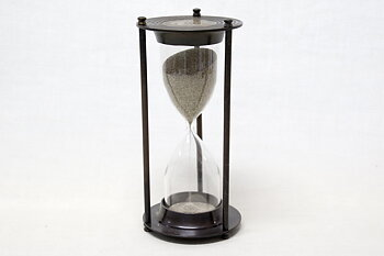 Hourglass Antique Brass 20x10 cm