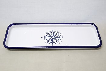 Compass rose enamel tray 35x14 cm