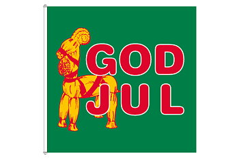 God Jul Bock flagga 180x180 cm