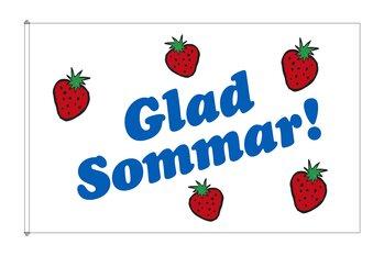 Happy Summer Strawberry Flag