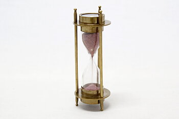 Hourglass - Compass Brass 15x6 cm