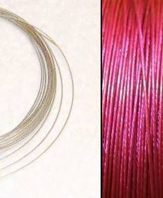 2,2m Wire 0,38mm: Orchidea Intensivt Rosa + 20 SP klämpärlor