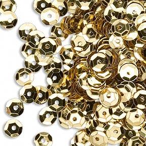 Jul: Paljetter mix - Red GOLD Green: Pyssel Dekoration Scrapbooking Smycken Sequins