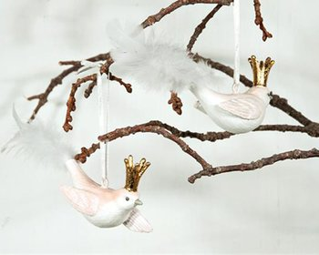 Prydnadsfåglar Hängande GULDKRONA 2-set