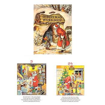 Adventskalender KALENDERBLOCK JUL 1-24 sidor,  Höjd 19 cm