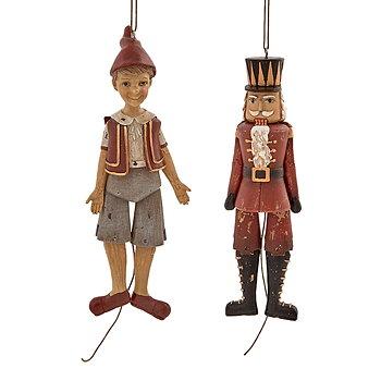 Pinocchio mix Sprattelgubbe Höjd 19 cm 2-set