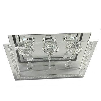 Ljushållare GLAS för tre värmeljus 31 x 20 cm