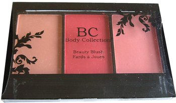 Body Collection Trio Blush Palette-Nude Pink + Dark Peach Pink+Rose Pink