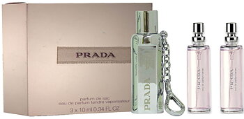 Prada Tendre 10ml EDP Purse Spray + 2 x 10ml EDP Refilled