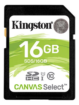 Kingston 16GB Canvas Select SDHC minneskort