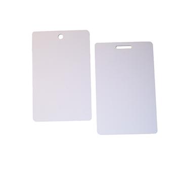Plastkort, hålat 0,76 mm