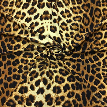 Animal print micro jersey Leo Brown NB3583