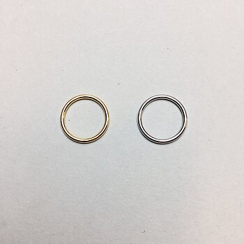 Ring 15mm - gold & silver, rounded