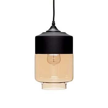 CEILING LAMP BLACK AND AMBER