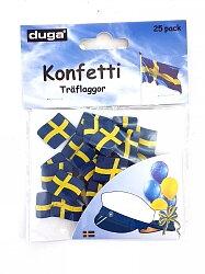 Konfetti träflaggor Sverige
