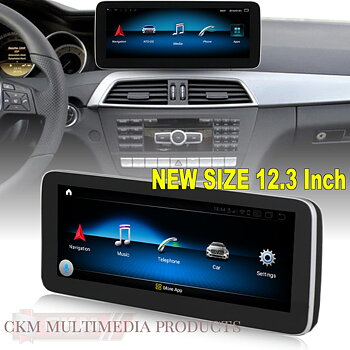 "C. w204 Comand 12,3"" Android Widescreen touchscreen W204 FACELIFT"