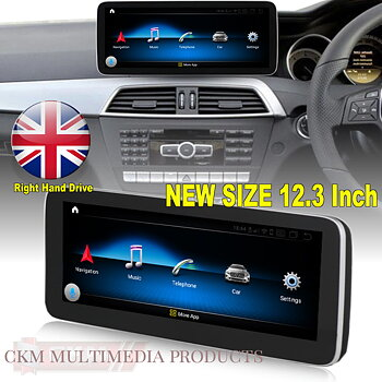 "C. w204 Comand 12,3"" Android Widescreen touchscreen W204 RHD FACELIFT"