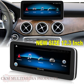 "1. w176/cla Comand 12.3"" Android Widescreen touchscreen A-Class"