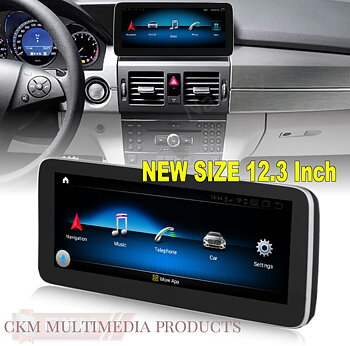 "1. GLK Comand 12.3"" Android Widescreen touchscreen GLK"