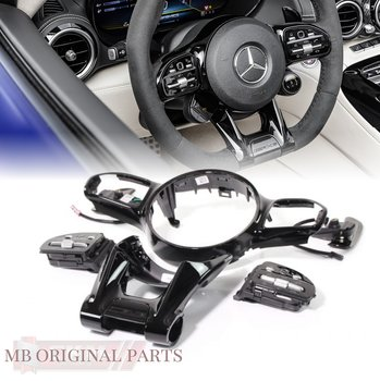 1. Steering Wheel trim  BLACK With distronic
