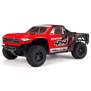1/10 SENTON MEGA 550 Brushed 4WD Short Course Truck RTR, Red/Black