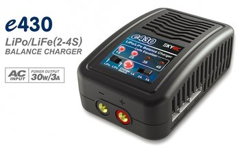 SkyRC e430 charger LiPo/LiFe 2-4S, 30W 240VAC