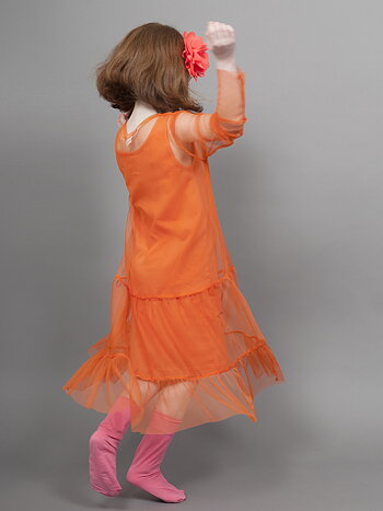 DRESS - TULLE ORANGE