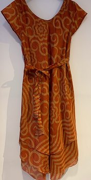 Silkdress xl orange/yellow