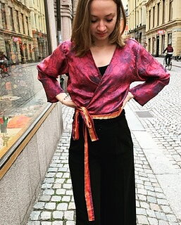Bolero recykled silk
