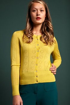 Cardi  Decor roudneck yellow