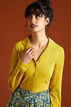 Patty blouse curry yellow long arm