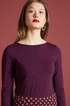 Milou top purple