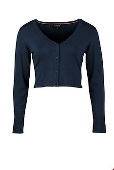Short cardigan  Bamboo dark blue  Long Sleeve