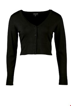 Short cardigan  Bamboo black Long Sleeve