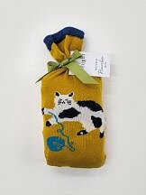 Kitty Bamboo Socks in a Bag