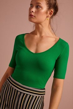 Carice V top rib tencel Very Green