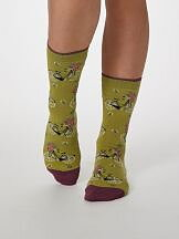Bamboo Bicycle Socks Pea Green